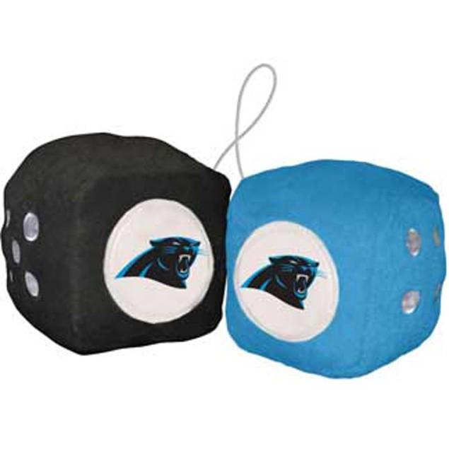 Carolina Panthers Fuzzy Dice NFL Football Team Logo Plush Car Truck Auto