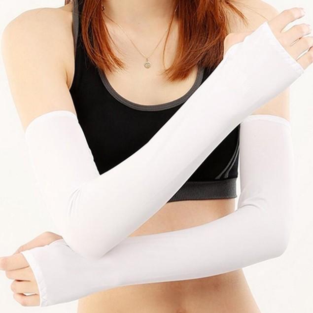 Women UV Sun Protection Golf Sports Cotton Arm Sleeves