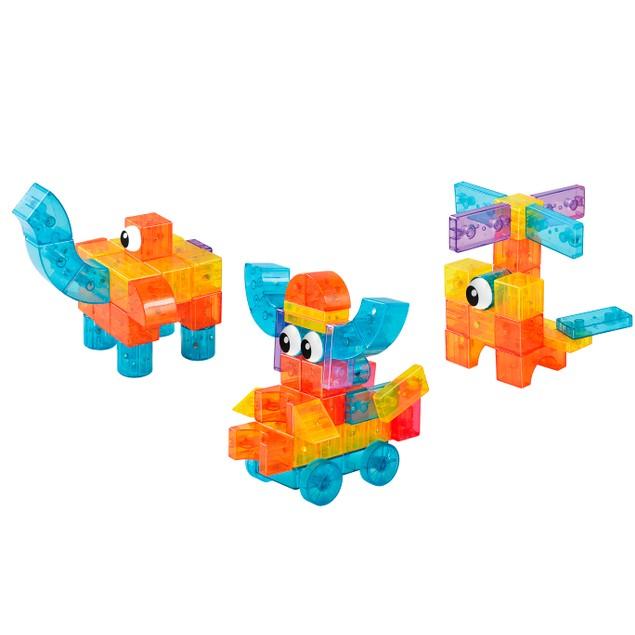 Zummy Kids Magnetic Building Blocks Tile Set Eyes Series 45 Piece