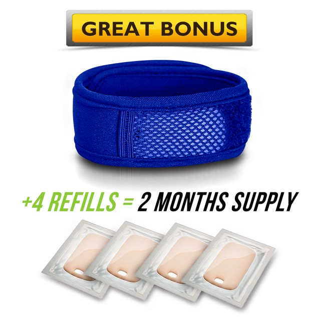 Mosquito Repellent Bracelet - All Natural Repeller Wrist Bands - 4 Refills