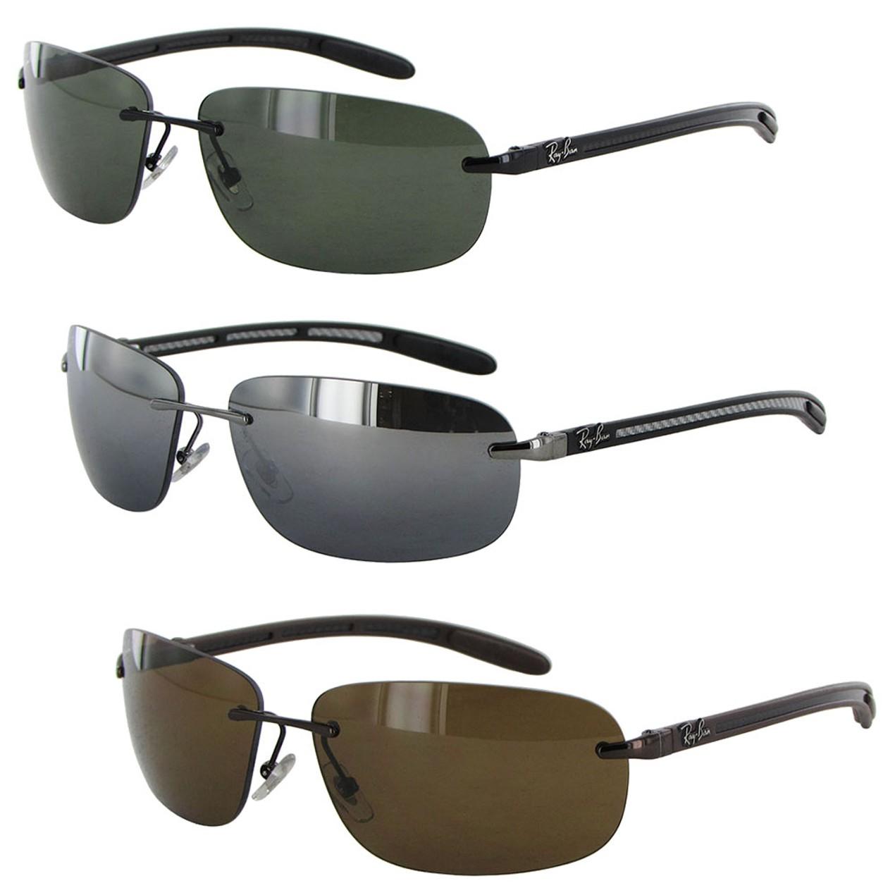 Ray Ban Tech Mens 8303 Carbon Fibre Rectangle Polarized Sunglasses ... 31b6fec37d78