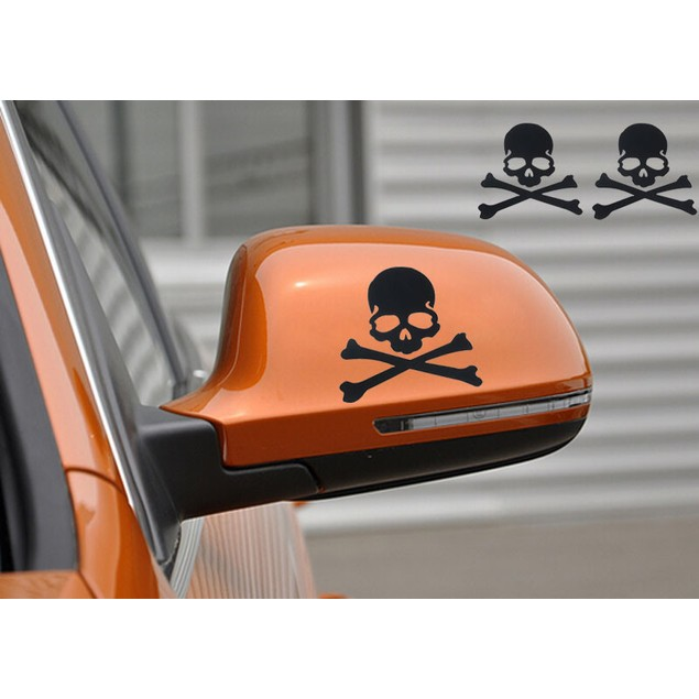Fashion Skull Design 3D Decoration Sticker For Car Side Mirror Rearview