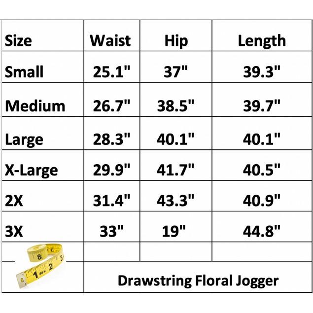 Lilly Posh Drawstring Floral Jogger