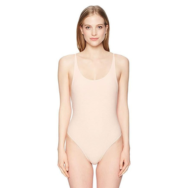 Billabong Junior's Tanlines One Piece Swimsuit, Barely Blush, M