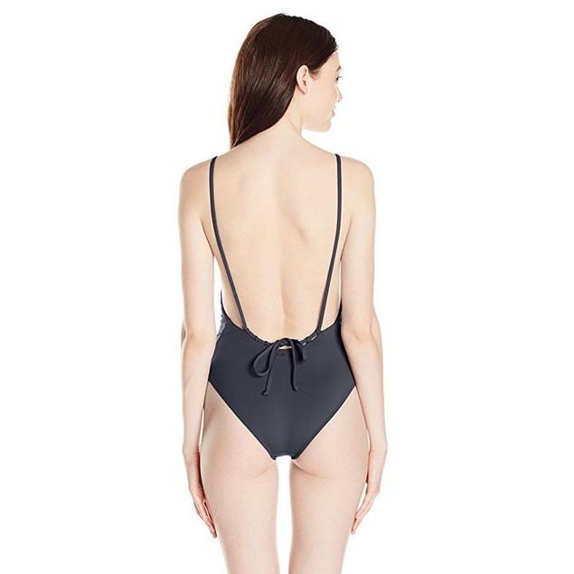 Billabong Women's Sol Searcher One Piece Swimsuit, Black Sands, SZ S