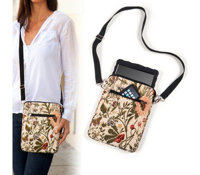 Tapestry Crossbody Shabby Chic eReader/Tablet/iPad Protective Carry Case Was: $29 Now: $11.99.