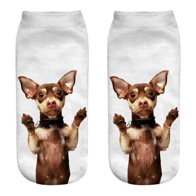 Casual Cotton Socks 3D Printing Medium Socks Cartoon Socks Sports Socks b