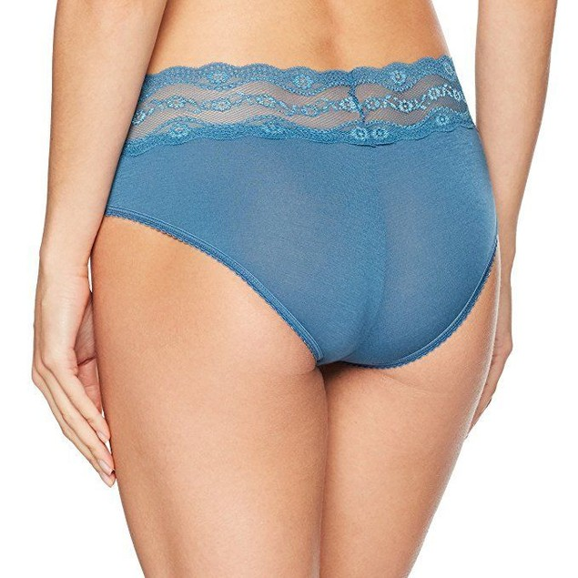 b.tempt'd by Wacoal Women's B Adorable Hipster Panty, Blue Ashes, SZ: