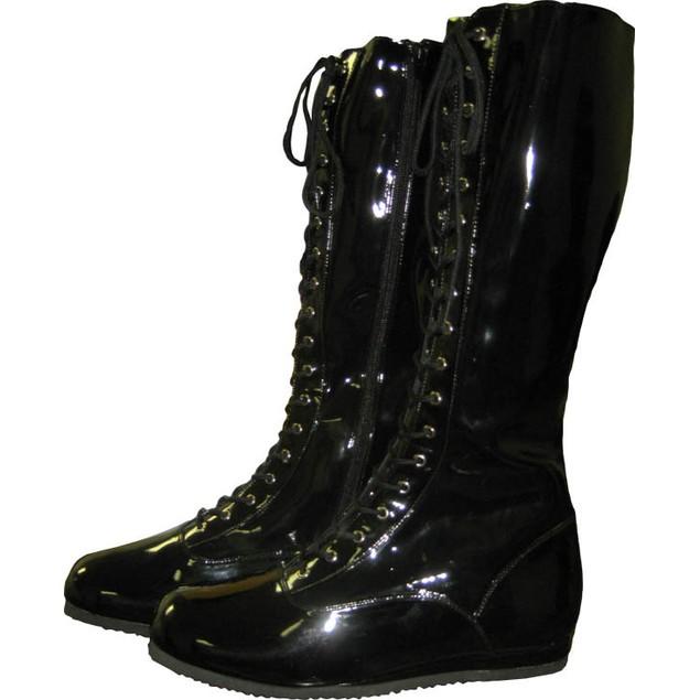 Black Adult Wrestling Boots