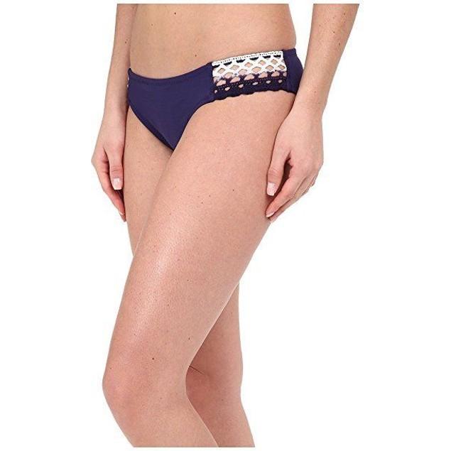 Becca by Rebecca Virtue Women's Tab Side Hipster Bikini Bottom Ink L