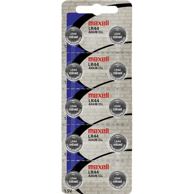 Maxell LR44 (A76) Alkaline Button Cell Battery (10 Pack)