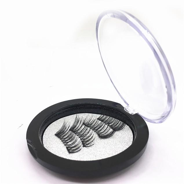 1 Pair 3D Magnetic Reusable False Magnet False Eyelashes Lashes  Y