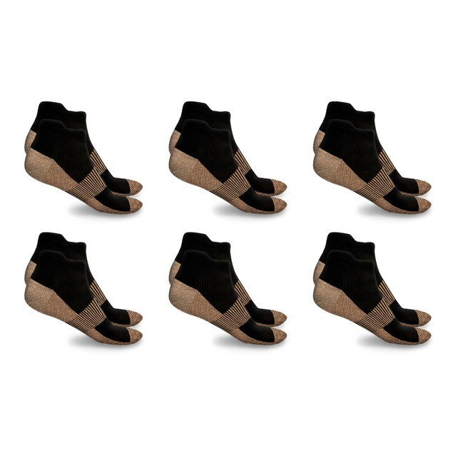 xFit Ankle-Length Copper-Infused Socks (6-Pack)