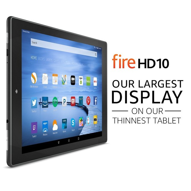 Fire HD 10 Tablet with Alexa (HD Display, 16 GB)