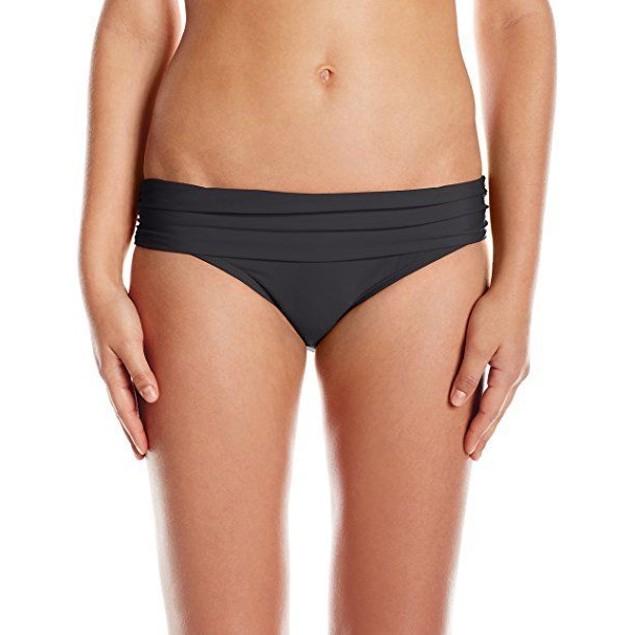 Athena Women's Cabana Solids Lani Banded Bikini Bottom Black SZ: S