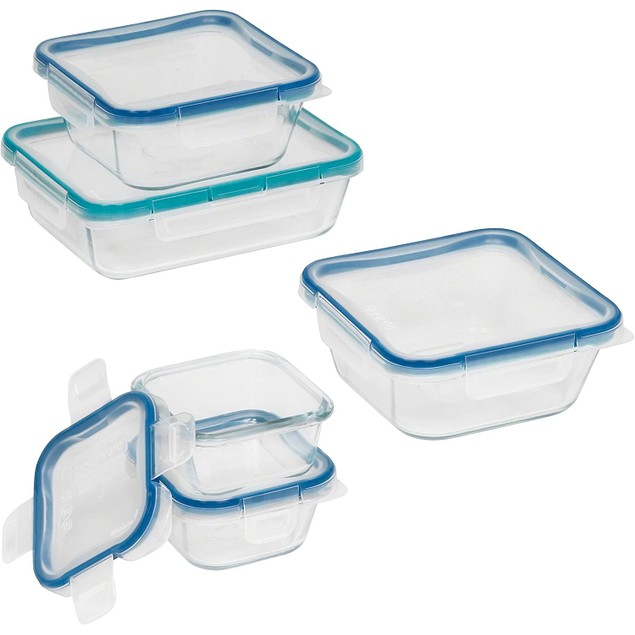 Snapware 10-Piece Total Solution Food Storage Set with Snap Lock Lid, Glass