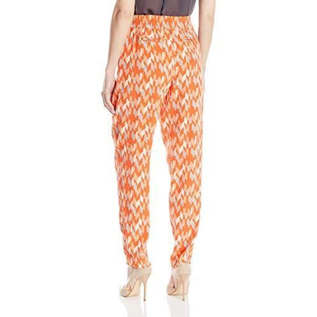 Lucky Brand Women's Soft Pant, Orange/Multi, Small