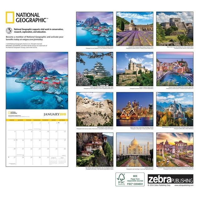 World Travel NG Wall Calendar, Globetrotter by Calendars