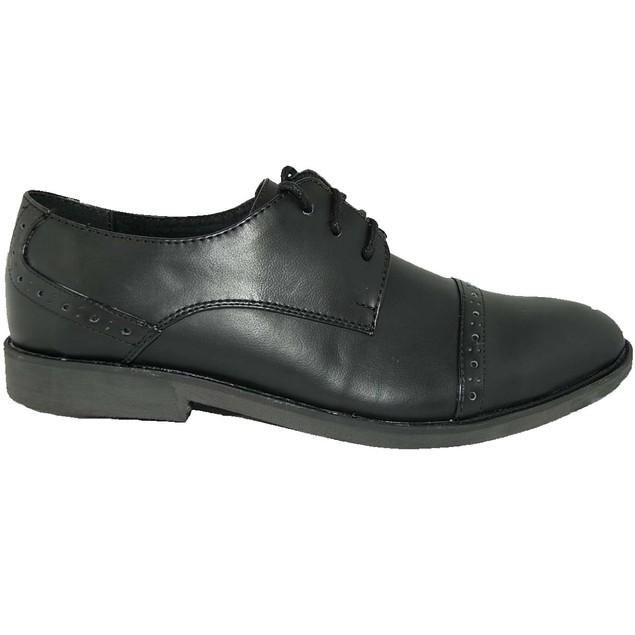 KRAZY SHOES BOGO 1 FREE Shoes   LEATHER LINED Black Mens Oxfords