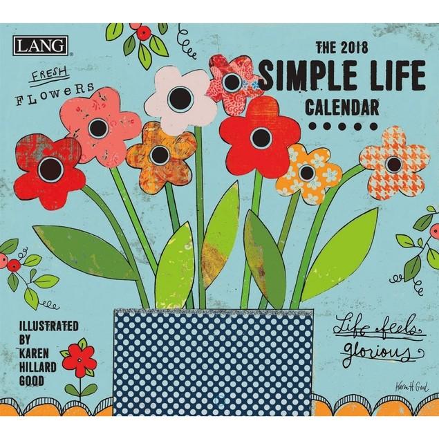 Simple Life Wall Calendar, LANG Wall Calendar by Calendars