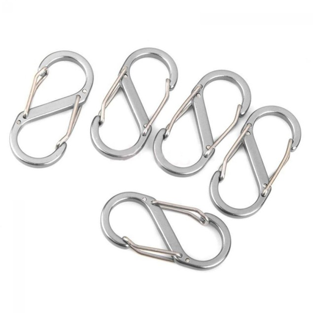 8 Shape Buckle Keychain Camping Climbing Fast Hanging Hook Carabiner
