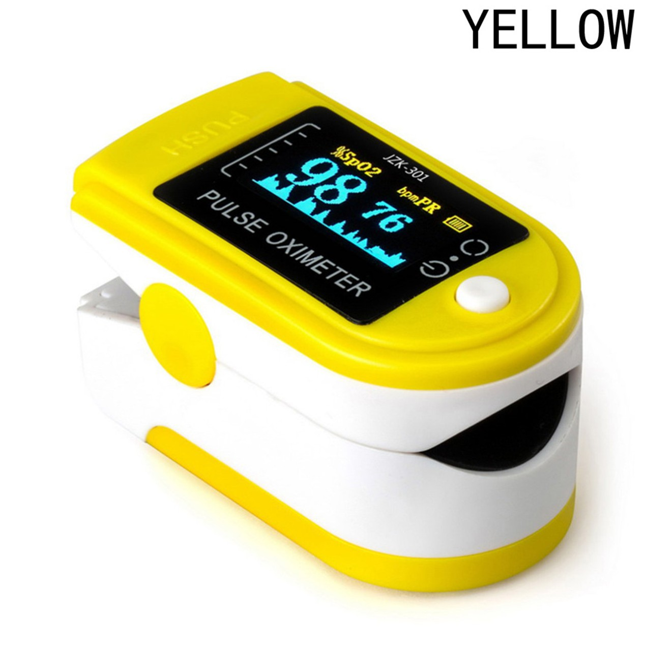 Finger Tip Pulse Oximeter Blood Oxygen Meter Spo2 Heart Rate Monitor