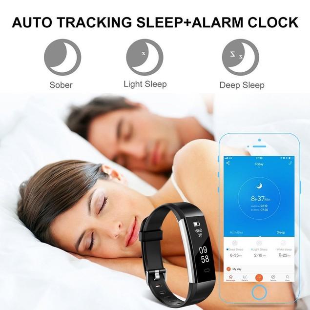 Odoland Wireless Bluetooth Waterproof Fitness Tracker Message Reminder