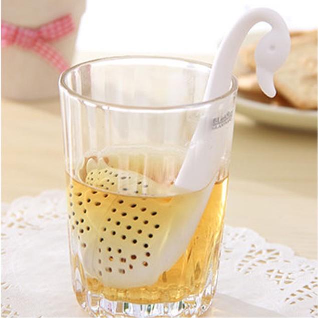 Novelty Tea Infuser Swan Loose Tea Strainer Herb Spice Filter Diffuser