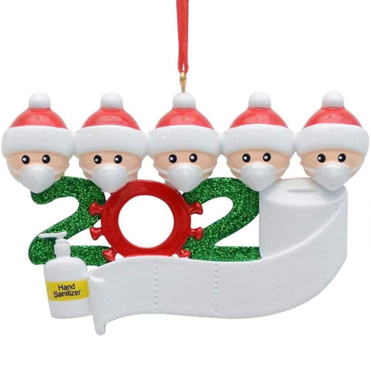 2020 Quarantine Family Personalized Christmas Ornaments