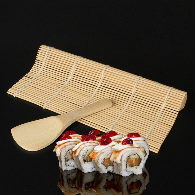 Sushi Maker Kit Rice Roll Mold +Roller Mat Rice Paddle