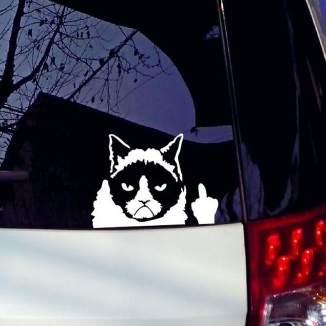 Grumpy Cat Car Sticker Vinyl Art Graphics Decals For Car Bumper Window