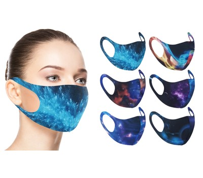 6-Pack Cosmic and Galaxy Design Reusable Face Mask Was: $15.99 Now: $9.99.