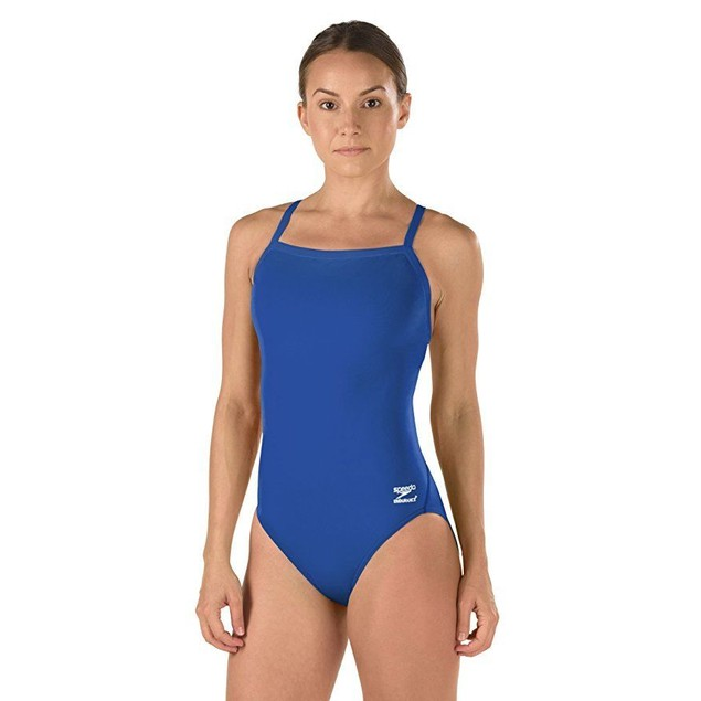 Speedo Race Endurance+ Solid Flyback Training Suit, Blue, 36