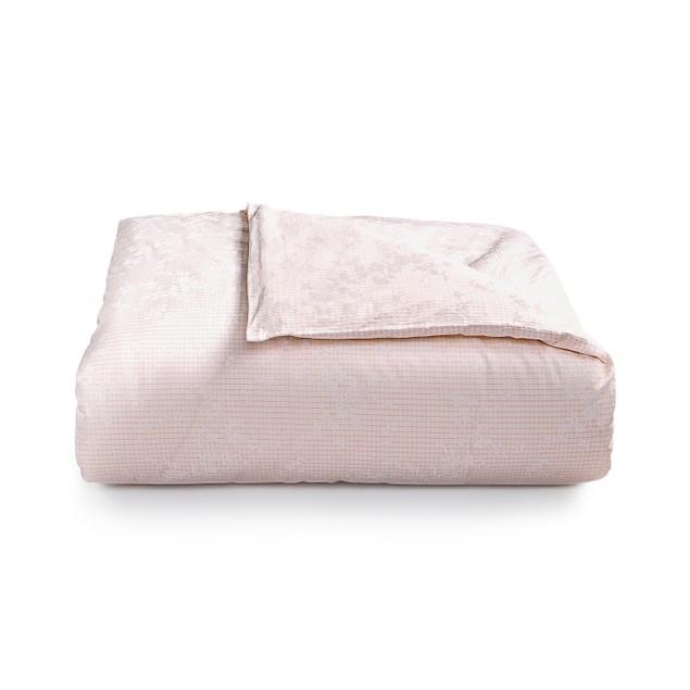 Calvin Klein Rosamund 90 Inches x 96 Inches Queen Duvet Cover, Pink