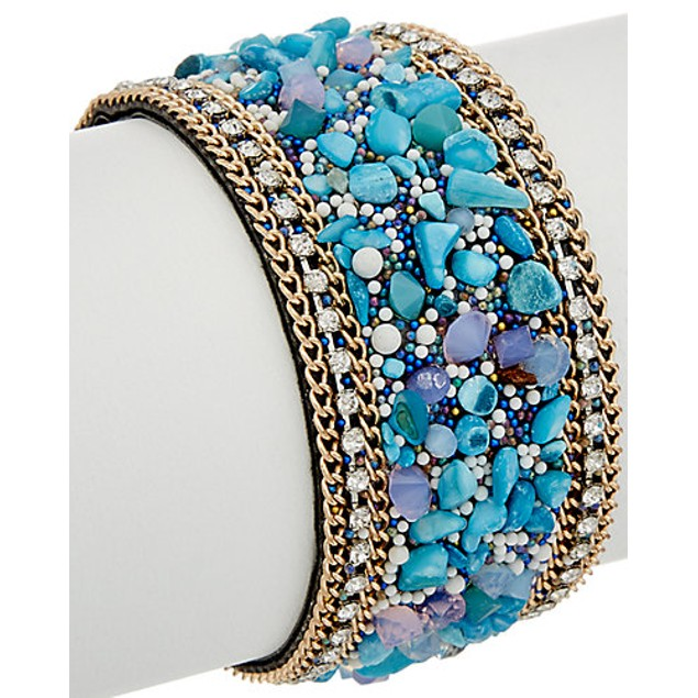 Crystal & Stone Magnetic Closure Bracelets