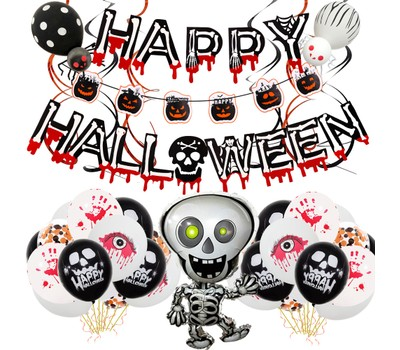 Halloween Party Supplies Decoration Skull Pull Flag Set Was: $28.99 Now: $26.99.
