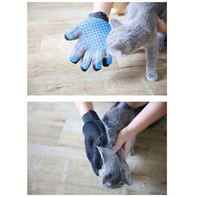 1 Pair Pet Grooming Gloves Brush Hair Remover Mitt