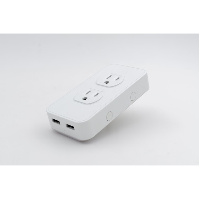 SimplySmart Home Voice Activated Power Outlet with 2 USB Ports