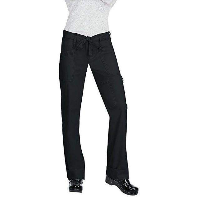 Koi Women's Niki Drawstring Elastic Waist Scrub Pant Large Black