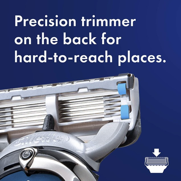 Gillette Fusion Proshield Chill Men's Antifriction Razor Blade Refills, 8