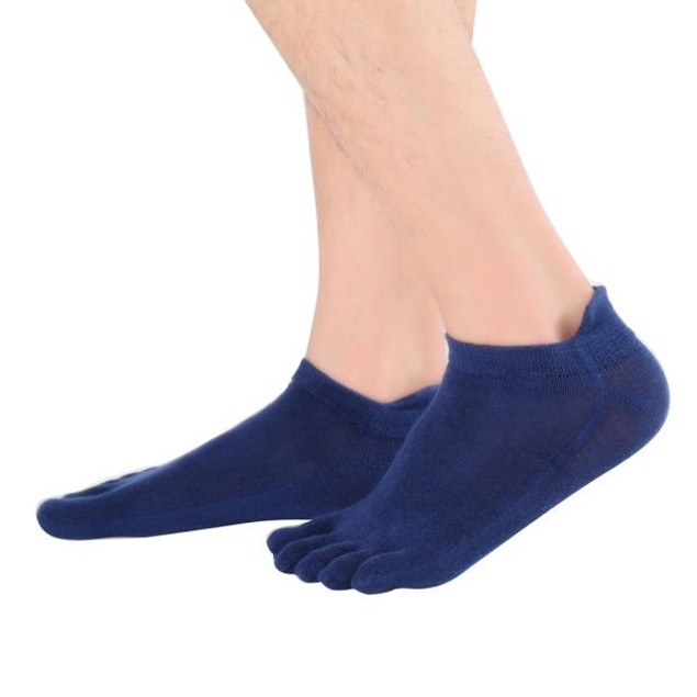 Men's Sport Non-Slip Massage Toe Socks
