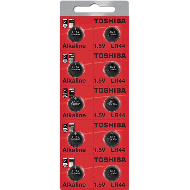 Toshiba LR44 Alkaline Button Cell Battery (10 Pack)