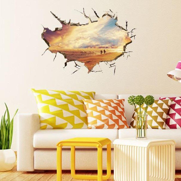 3D Cartoon Wall Stickers Mural Decal Quotes Art Home Decor