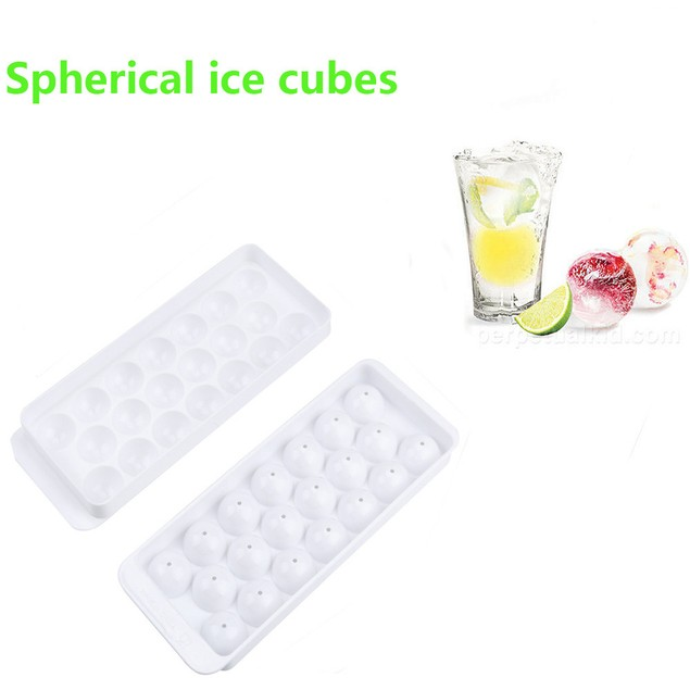 Round Spherical Ice Ball Maker Tray 20 Large Molds Made in China