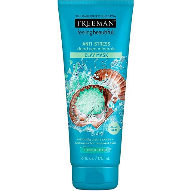 Freeman Dead Sea Minerals Facial Anti-Stress Mask, 6 Ounce