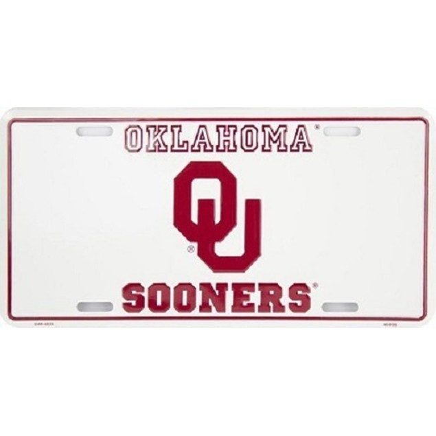 Oklahoma Sooners NCAA License Plate