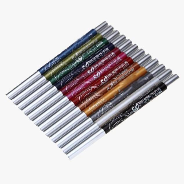 12 Colors Eyebrow Glitter Shadow Lip EyeLiner Pencil Pen Cosmetic Makeup