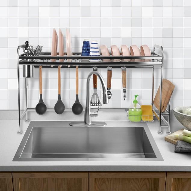 Dish Drying Rack, Large Premium Stainless Steel Dish Rack