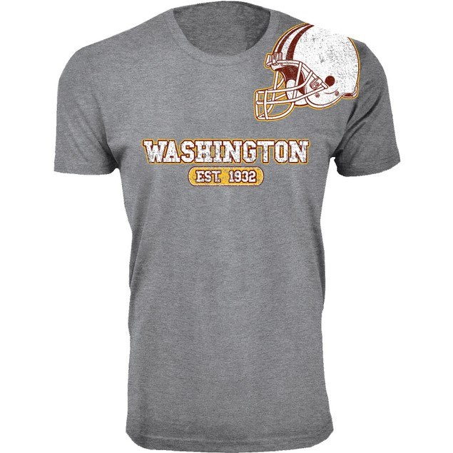 Men's Heather Grey Awesome Football Helmet T-Shirts