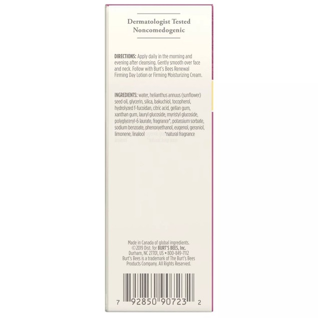 Burt's Bees Renewal Intensive Daily Moisturizing Anti-aging Firming Serum,